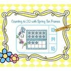 Clip cards are great for independent practice.  Children will count the flowers in the double ten frame, determine the answer, attach a clothespin ...