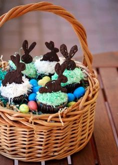 Chocolate coconut Easter cupcakes from Baking Bites