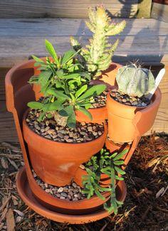 Upcycled Broken Pot Cactus/ Succulent Garden. $89.00, via Etsy.
