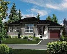 Contemporary Style House Plan - 2 Beds 1 Baths 1019 Sq/Ft Plan #25-4273