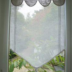 Brise bise lin Ambre, Decoration, Windows, Blinds, Tier Curtains, Make Curtains, Veil, White People, Decor