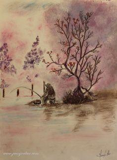 Mira este artículo en mi tienda de Etsy: https://www.etsy.com/es/listing/489311136/watercolor-oil-fisherman-on-the-lake