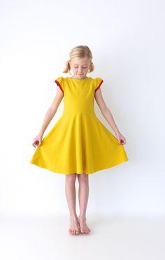 just a little hot-pink and mustard fleece dress | MADE