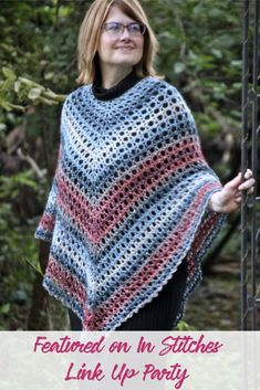 Crochet poncho perfect for layering in the fall and spring.  crochet  ideas    acd5e55f42ea