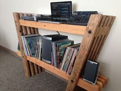 DIY Record and Stereo Shelf