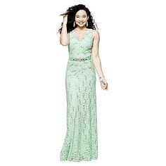 jcp   My Michelle® Scalloped Lace Long Dress