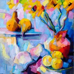Life, my sister III: out and out, my reason is laughable (after Boris Pasternak). Oil on canvas. I should really start on. Post Impressionism, Impressionist Art, Still Life Pictures, Still Life Oil Painting, Fruit Painting, Fruit Art, Paintings I Love, Naive Art, Abstract Flowers