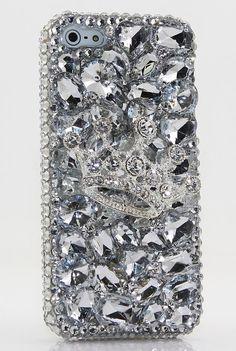 Clear Diamond Crown Design iPhone Case