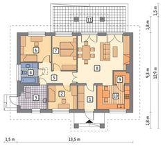Rzut parteru POW. 98,0 m²