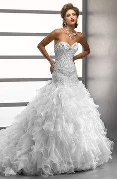 Mermaid Wedding Dresses with Crystals and organiza | ... Mermaid ...