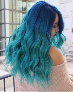 42 Chic Blue Highlights Hair Color And Hairstyle Ideas For Short & Long Hair - Latest Fashion Trends For Woman - 42 Chic Blue Highlights Hair Color And Hairstyle Ideas For Short & Long Hair Products Initial: Hair Dye Colors, Hair Color Blue, Cool Hair Color, Blue Hair, Lilac Hair, Gray Hair, Hair Mascara, Temporary Hair Color, Tape In Hair Extensions