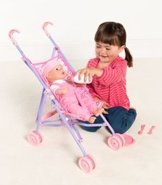 Little Belle 38cm Magical Drink & Wet Baby with Stroller & Accessories | Kiddicare