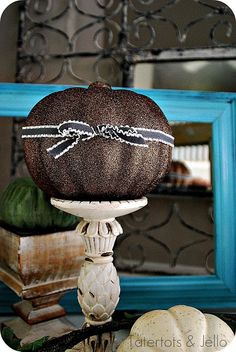 I don't know whether I want to make glittered pumpkins, headbands, or brooches first! Keep moving or I'll glitter you!