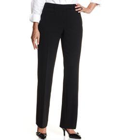 Jm Collection Petite Pants, Tummy Control Curvy-Fit Straight Leg Pant