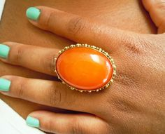 love the colour of this ring! bright orange