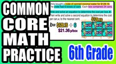 ✪ Modeling & Solving Real World Equations | 6th Grade Common Core Math