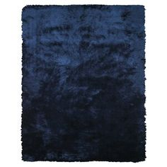The Indochine blue area rug makes a luxe addition to your home. Table tufted from art silk, this plush area rug simulates the feel of real animal fur, and is perfect for the casually modern home. Dark Blue Rooms, Dark Blue Rug, Navy Blue Area Rug, Blue Area Rugs, Blue Rugs, Teal Rug, Yellow Rug, Blue Walls, Light Blue