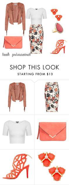 """""""look primaveral"""" by aliciagorostiza on Polyvore featuring moda, Vero Moda, River Island, Topshop, Qupid, Kate Spade y Avenue"""
