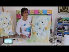 Maria Pas Magnolias One Stroke Painting, Painting Videos, Watercolor Tips, Doodle Drawings, Large Canvas, Art Classroom, Art Tutorials, Magnolia, Doodles