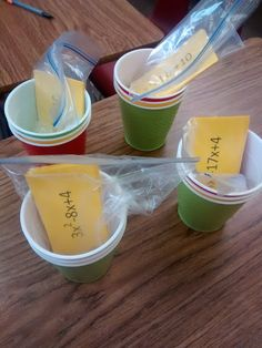 Math = Love Self Checking - Factoring trinomials practice with traffic light cups
