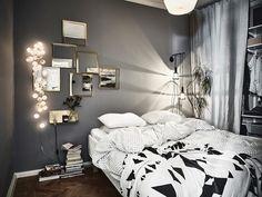 Gothenburg Apartment With A Bold Dark Bedroom