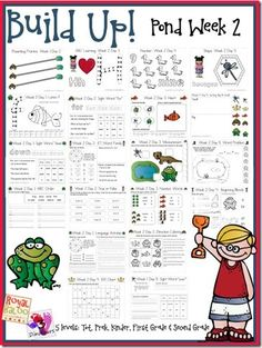 Build Up Week 2–Pond Theme Free Printables from Royal Baloo  http://royalbaloo.com/build-up-week-2pond-theme/ and 3 Dinosaurs http://3dinosaurs.com/wordpress/index.php/build-up-summer-learning-week-2-pond/