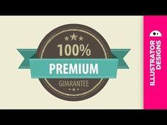 Adobe Illustrator // design a vintage label - YouTube