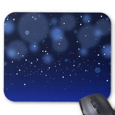 Bokeh Blue Abstract Starry Sky Mouse Pad