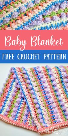 Sugar Love Baby Blanket – Free Crochet Pattern – My Merry Messy Life – Knitting Baby İdeas. Crochet Baby Blanket Free Pattern, Afghan Crochet Patterns, Free Crochet, Crochet Blankets, Easy Crochet, Crochet Ideas, Modern Crochet, Tunisian Crochet, Crochet Afghans
