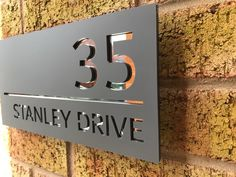 Welcome to One Of A Kind Design UK! We are specialists in creating personalised products, including personalised house sign and number plaques for your home. Contemporary House Numbers, Modern Contemporary Homes, Door Number Plaques, Door Numbers, Personalized Signs For Home, Signage Board, Name Plate Design, House Plaques, House Names