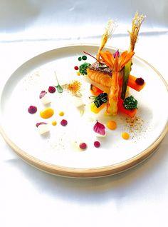 Salmon, Shrimp, Wild Carrots, Caviar, Goat Cheese. Marco Tola