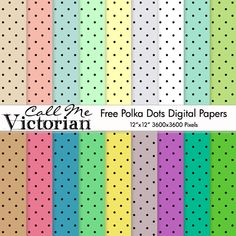 polka dots digital papers ♥♥Join 3,700 people. Follow our Free Digital Scrapbook Board. New Freebies every day.♥♥