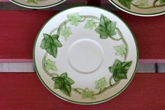 Three Vintage Franciscan Ware Ivy Saucers by PanchosPorch on Etsy, $9.75