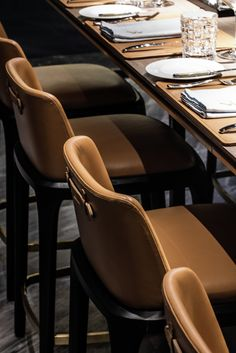 An eclectic urban atmosphere fills this Hong Kong restaurant and creates a dynamic ambiance for unforgettable dining experience; its design solution combines Modern Restaurant, Cafe Restaurant, Restaurant Design, Restaurant Chairs, Bar Chairs, Bar Stools, Dining Chairs, Office Chairs, Eames Chairs