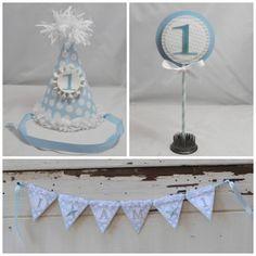 1st Birthday Boy Shabby Chic Smash Cake by CardsandMoorebyTerri, $35.00