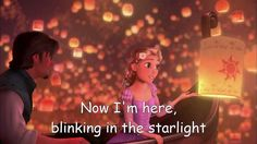 a beautiful song by Mandy Moore and Zachary Levi, I See The Light, ost Tangled / Rapunzel. Lyrics on screen.