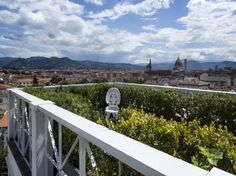 This stunning penthouse is set on three levels and has four large terraces with a unique 360° view over Florence. The entrance is located on the sixth floor of an elegant building with elevator. On the seventh floor there is a panoramic terrace with a large Jacuzzi and a turkish bath, a study with bathroom and a 'limonaia'. At the top floors ( 8 + 9 )there are two terraces and a large veranda.
