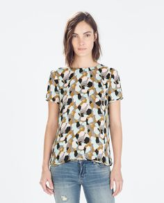 Image 1 of PRINTED DRESS WITH BOW AT THE BACK from Zara