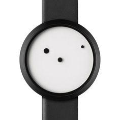 細かいことは気にしない?!オシャレ重視のミニマルな時計。 中央の固定されたドットの周りを回る2つのドットが短針・長針として機能します。 https://room.rakuten.co.jp/gyoninben/1700002987983298?scid=we_rom_pinterest_official_20150218_a1