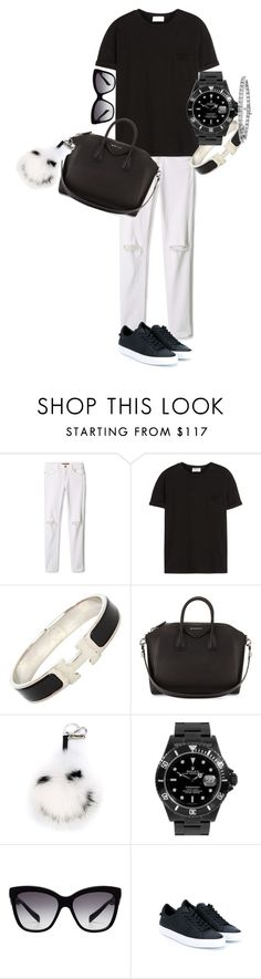 """""""Anzac Day X"""" by milson13 ❤ liked on Polyvore featuring Rebecca Minkoff, Frame Denim, Hermès, Givenchy, Fendi, Rolex and Dolce&Gabbana"""