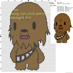 Chewbecca (Star Wars) cross stitch pattern