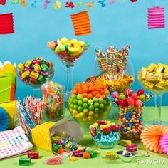 Tropical/Summer Candy Buffet~Party City