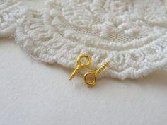 20 Mini Loop Screw Eye Pin Crafting Supplies Eye Hook by BuyDiy