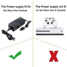 Xbox One Power Supply[Advanced Quiet Edition]AC Adapter Power Supply Charger Cord with AC Power Wall Cord for Xbox One,Black -- Read more at the image web link. (This is an affiliate link). Xbox One Black, Xbox One S, S Console, Xbox One Console, Used Video Games, Ac Power, Charger, Personalized Gifts, Cord