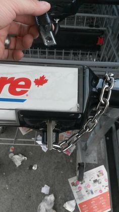 Shopping Hack - How to access a coin-operated shopping cart without a coin