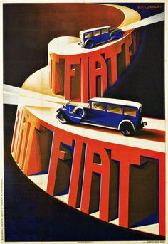 Giuseppe Riccobaldi's poster for Fiat, 1928 (via here)