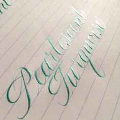 Using PearlEx Powder Pigment as ink for pointed pen calligraphy.