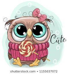 Cute Cartoon Owl with lollipop. Greeting card Cute Cartoon Owl with lollipop Royalty Free Illustration Cartoon Cartoon, Cute Baby Cartoon, Cartoon Tiger, Kitten Cartoon, Cartoon Monkey, Cartoon Elephant, Cute Birds, Cute Owl, Baby Owl Tattoos