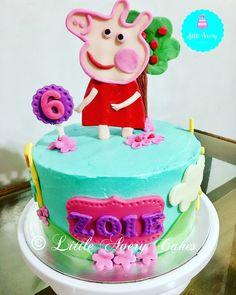 Peppa Pig cake in buttercream frosting and fondant applique 🐷🐽💕 #peppapigcake #buttercream #fondantapplique #cakesph #cakeslaguna #LittleAveryCakes