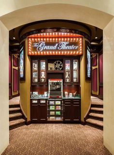 Our home theaters concession stand Home Theater Pinterest